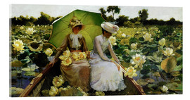 Acrylic print  Lotus Lilies - Charles Courtney Curran