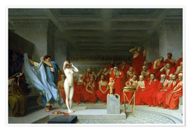 Premium poster  Phryne before the Areopagus - Jean Leon Gerome