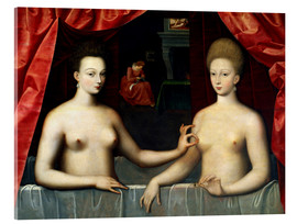 Acrylic print  Gabrielle d'Estrées and one of her sisters