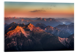Acrylic print  Alps Panorama from Zugspitze at Sunrise - Andreas Wonisch
