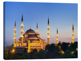 Canvas print  Blue Mosque at twilight - Circumnavigation