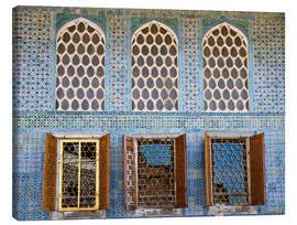Canvas print  Islamic windows of the Topkapi palace - Circumnavigation