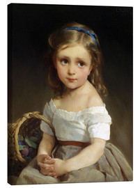 Canvas print  Girl with plums Basket - Emile Munier
