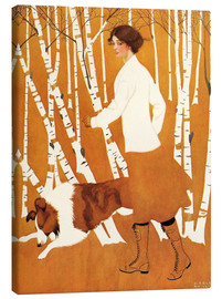 Canvas print  Birches - Clarence Coles Phillips