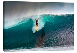 Canvas print  Extreme surfing huge wave - Mentawai Islands - Paul Kennedy