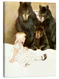 Canvas print  Goldilocks and the Three Bears - Katharine Pyle