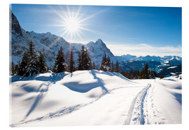 Acrylic print  Winter scenery at Grindelwald - Peter Wey