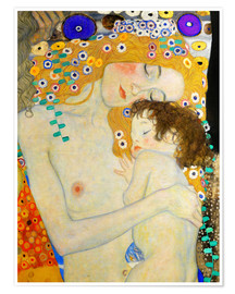 Premium poster  Mother and Child (detail) - Gustav Klimt