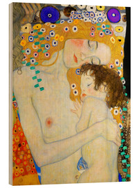 Wood print  Mother and Child (detail) - Gustav Klimt