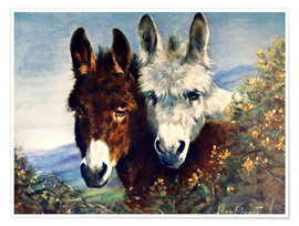 Premium poster  The Wise Ones (Donkeys) - Lilian Cheviot