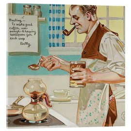 Acrylic print  Good Coffee - Joseph Christian Leyendecker