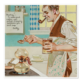 Premium poster  Good Coffee - Joseph Christian Leyendecker
