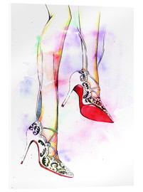 Acrylic print  Hot high heels - Rongrong DeVoe