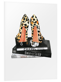 Foam board print  Pumps and fashion reading - Rongrong DeVoe