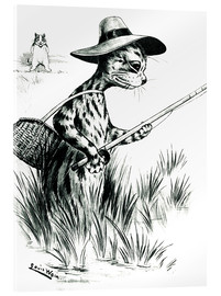 Acrylic print  Cat fishing - Louis Wain