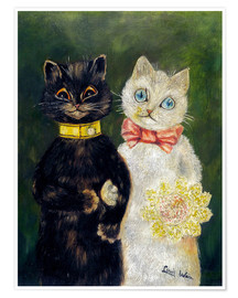 Premium poster  Cats Wedding - Louis Wain