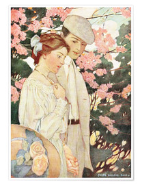 Premium poster  Lovers - Jessie Willcox Smith