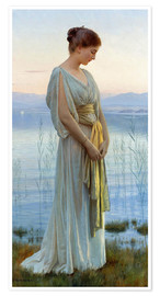 Premium poster  Evening by the Lake - Max Nonnenbruch