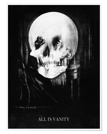 Premium poster  All is vanity - girl in a mirror - Charles Allan Gilbert