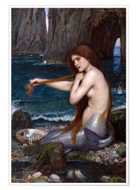 Premium poster  The mermaid - John William Waterhouse