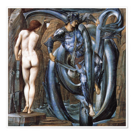 Premium poster  The Doom Fulfilled - Edward Burne-Jones