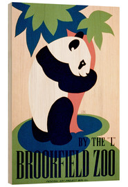 Wood print  Brookfield Zoo - Advertising Collection