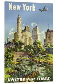 Acrylic print  New York United Airlines - Travel Collection