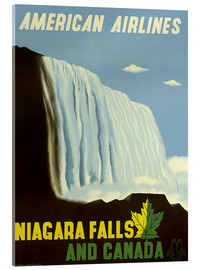 Acrylic print  American Airlines Niagara Falls and Canada - Travel Collection