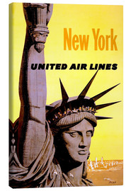 Canvas print  New York United Air Lines - Travel Collection