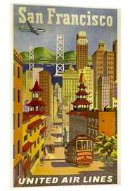 Acrylic print  United Airlines, San Francisco - Travel Collection