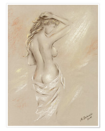 Premium poster Sexy curves - female nude