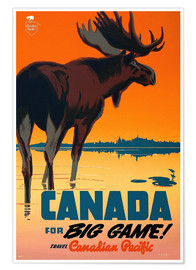 Premium poster  Canada travel for big game - Travel Collection