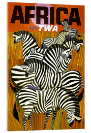 Acrylic print  Africa Fly TWA - Travel Collection