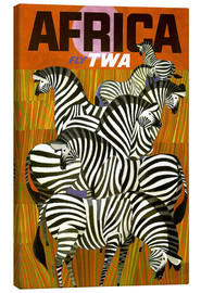 Canvas print  Africa Fly TWA - Travel Collection