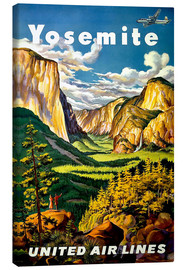 Canvas print  Yosemite United Air Lines - Travel Collection