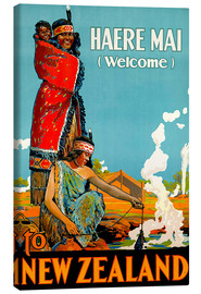 Canvas print  Haere Mai welcome to New Zealand - Travel Collection