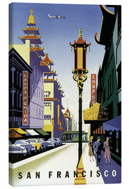 Canvas print  United Air Lines San Francisco - Travel Collection