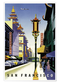 Premium poster  United Air Lines San Francisco - Travel Collection