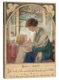 Canvas print  A Child's Prayer - Jessie Willcox Smith