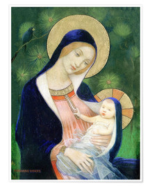 Premium poster  Madonna and child - Marianne Stokes