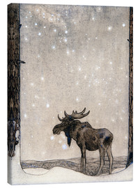 Canvas print  Elk in the Snow - John Bauer