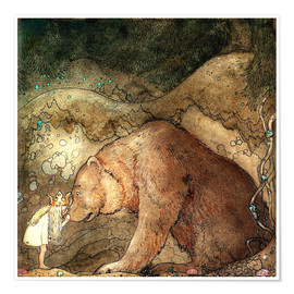 Premium poster  Poor little bear - John Bauer