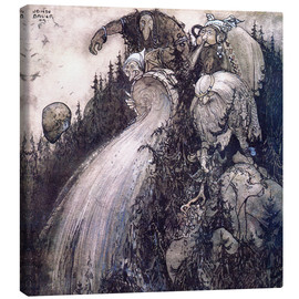 Canvas print  Troll of the forest - John Bauer