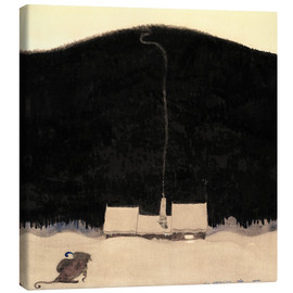 Canvas print  The House at the foot of the Mountain - John Bauer