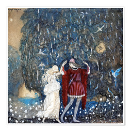 Premium poster  Lena dances with the knight - John Bauer