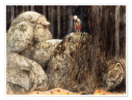 Premium poster  The Child and the Stone Troll - John Bauer