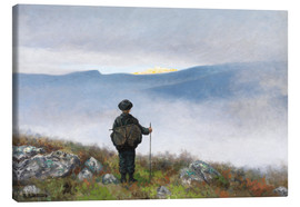Canvas print  Far, far away Soria Moria Palace shimmered like Gold - Theodor Kittelsen