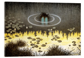 Acrylic print  Nøkken, The Monster of the Lake - Theodor Kittelsen