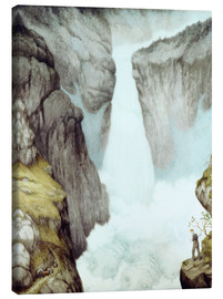 Canvas print  At the waterfall - Theodor Kittelsen