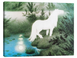 Canvas print  The Nix as a white horse - Theodor Kittelsen